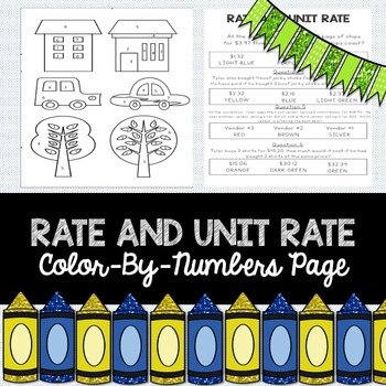 Rate and Unit Rate: Color-by-Numbers Activity