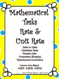 Rate and Unit Rate:  Mathematical Tasks  Constant Speed, Comparison Shopping