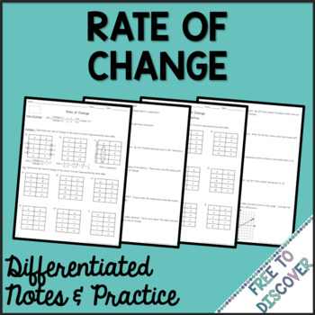 Rate of Change Differentiated Notes and Practice