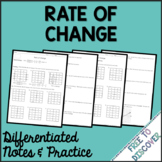 Rate of Change Notes and Practice (Differentiated) | Dista