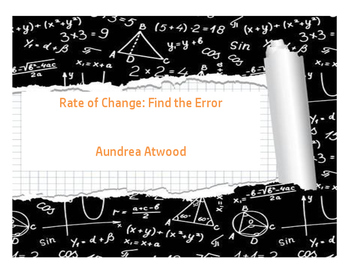 Rate of Change: Find the Error