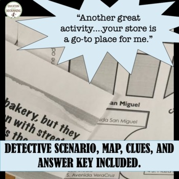 Rate of Change or slope math detective activity