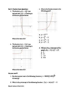Rate of Change, Graphs of Exponential Functions Guided Notes, Game, Worksheet