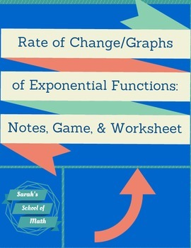 Rate of Change, Graphs of Exponential Functions Guided Not
