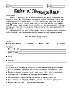 Rate of Change Lab