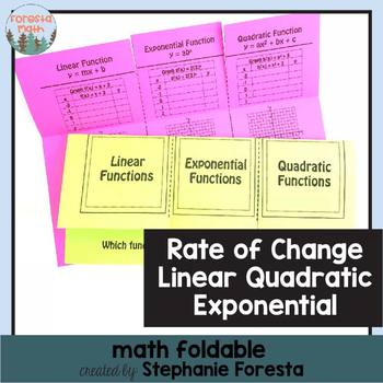 Rate of Change - Linear, Quadratic, & Exponential