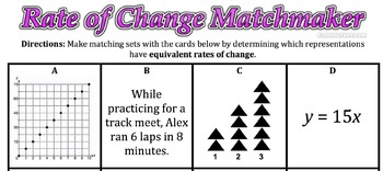 Rate of Change Matchmaker