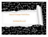 Rate of Change: Math Maze