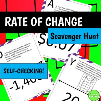 Rate of Change Scavenger Hunt