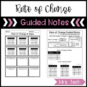 Rate of Change & Slope Guided Notes