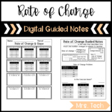 Rate of Change & Slope Guided Notes - Digital