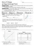 Rate of Change & Slope-Intercept Form Assessment - 8.EE.5 and 8.EE.6