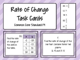 Rate of Change (Slope) Task Cards - Math Centers