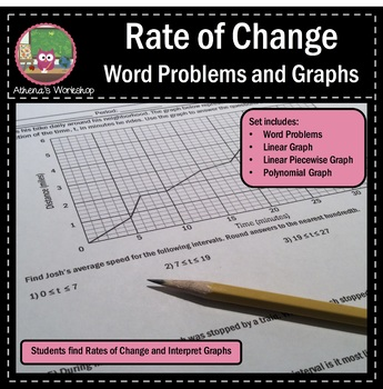 Rate of Change - Word Problems and Graphs