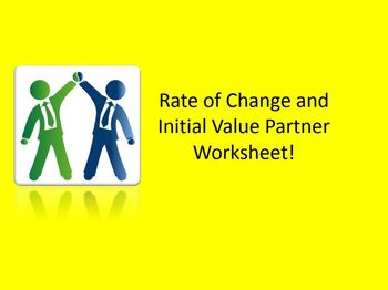 Rate of Change and Initial Value Partner Worksheets