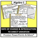 Rate of Change and Introduction to Direct Variation in a P