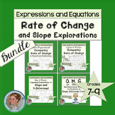 Rate of Change and Slope Explorations Bundle