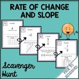 Rate of Change and Slope Scavenger Hunt