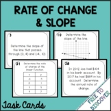 Rate of Change and Slope Task Cards Activity