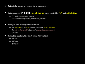 Rate of Change in Equations