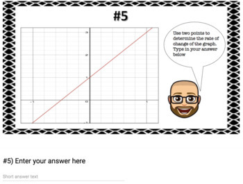 Rate of Change of Graphs (Google Form & Interactive Video Lesson!)