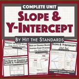 Rate of Change or Slope & Y-intercept 8th Grade Math UNIT 4 BUNDLE! 30%OFF