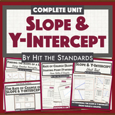 Rate of Change or Slope & Y-intercept 8th Grade Math UNIT