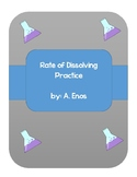 Rate of Dissolving Solutions Exit Tickets/ Practice