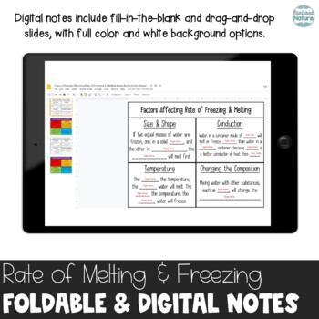 Rate of Freezing and Melting - Factors that Influence Foldable
