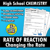 Rate of Reaction - changing the rate labs