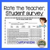Rate the Teacher Survey In English and Spanish and Customizable