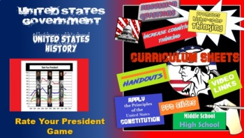 United States Presidency - Rate the President (student activity)