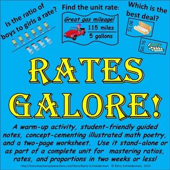 Unit Rates Worksheet Teaching Resources | Teachers Pay Teachers