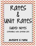 Rates & Unit Rates Guided Notes