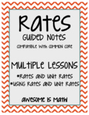 Rates Guided Notes - Multiple Lessons
