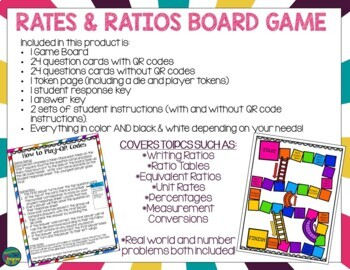 Rates & Ratios Activities Bundle