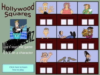 Rates & Ratios Hollywood Squares Review Game