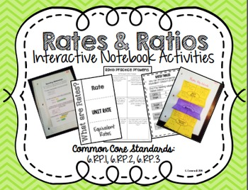 Rates & Ratios Interactive Math Notebook