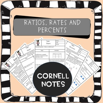 Rates, Ratios, Percents Cornell Notes