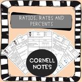 Rates Ratios Percents Cornell Notes (AVID)
