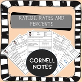 Distance Learning: Rates Ratios Percents Cornell Notes (AVID)