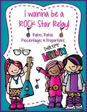 Rates, Ratios, Percents & Proportions! Rock-Star Relay - A fun way to review!
