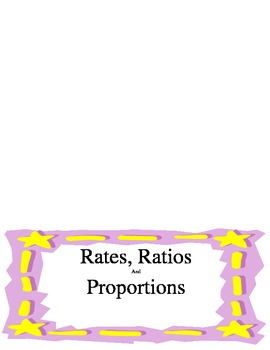 Rates, Ratios & Proportions Foldable