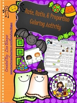 Rates, Ratios, & Proportions Halloween Coloring Activity