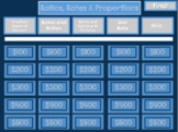 Rates, Ratios, and Proportions Jeopardy Review Game