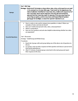 Rates, Ratios, and Proportions Lesson Plan