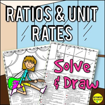 6th Grade Ratios & Unit Rates Color by Answer