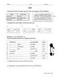 Rates, Unit Rates and Rate Reasoning Worksheet (Common Cor