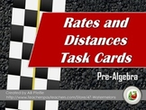 """Rates and Distance Task Cards - """"I'll Race You!"""""""