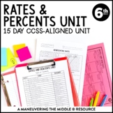 Rates and Percents Unit: 6th Grade Math (6.RP.2, 6.RP.3)